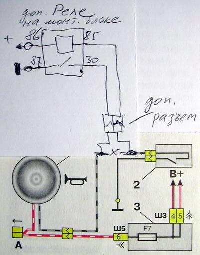 Схема подключения сигналов ваз 2112